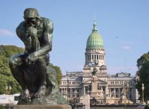 Buenos Aires Plaza,  Congreso, El Pensador  de Rodin