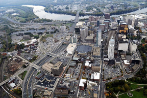Hartford: more parking lots than buildings