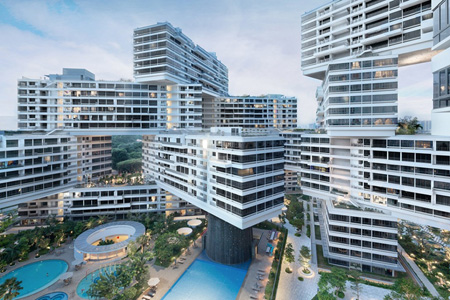 """""""The Interlace,"""" a housing complex in Singapore"""