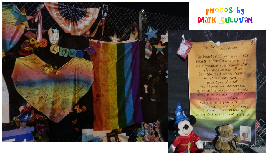 """On the evening of June 12, 2016, 49 people were killed and 53 others were wounded in a hate/terror attack by a lone gunman at the Pulse nightclub in Orlando. Pulse was a well-loved social center for Orlando's LGBT community — and, the night of the massacre was the club's """"Latin Night,"""" so many of the victims were Latino. Since then, the site has become a sort of shrine to the victims — and to those who bear the brunt of hate and intolerance everywhere."""