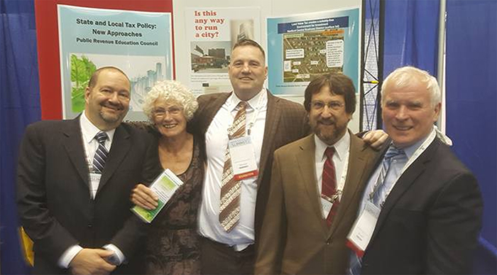 Here is the crew (minus Bill Batt and Warren Chamberlain) that staffed the Public Revenue Education Council's booth at this year's National Conference of State Legislators in Boston: Josh Vincent, Heather Remoff, Thomas Lyons, Lindy Davies and Brendan Hennigan. PREC has been doing this for many years, establishing a stable presence and making useful contacts. We look forward to NCSL 2018 in Los Angeles!
